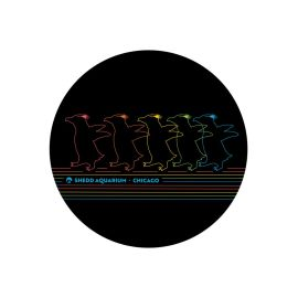 Electric Penguin Vinyl Sticker