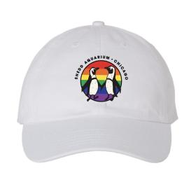 Pride Penguin White Cap
