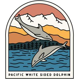Pacific White Sided Dolphin Vinyl Sticker