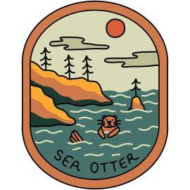 Sea Otter Vinyl Sticker