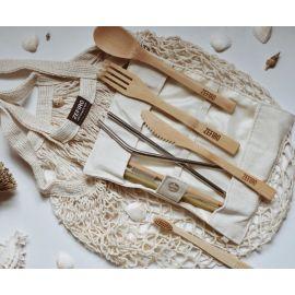 Reusable 8-Piece Bamboo Cutlery Set