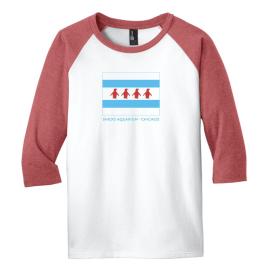 Chicago Flag Kids 3/4 Sleeve Raglan T-Shirt